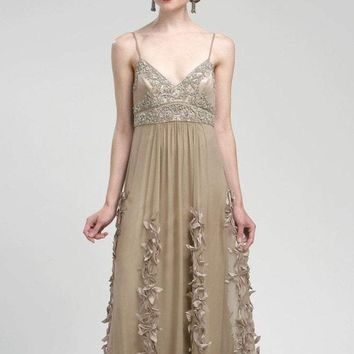 Sue Wong - N1452 Spaghetti Straps Embellished Empire Gown