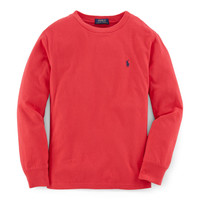 COTTON LONG-SLEEVED CREW TEE