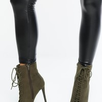 In Command Booties - Olive
