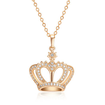 Queen Crown Pendant Necklace