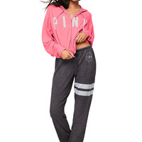 Cropped Full-Zip - PINK - Victoria's Secret