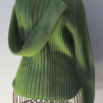 American Eagles Outfitter Green Turtleneck Sweater  Vintage AE 100% Cotton Sweater Chunky Sweater