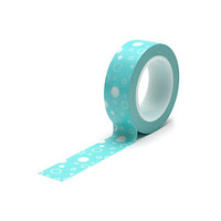 Queen and Co: Teal Blue Bubbles Washi Paper Tape, 15mm x 10 yards