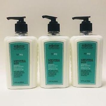 3 Bath & Body Works C.O. Bigelow 1412 MENTHA BODY VITAMIN Body Lotion