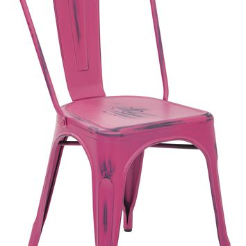 Office Star Antique Pink Bristow Armless Chair (Set of 4)