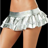 Patent Leather Skirts Qi B Small Skirt Nightclub DS Clothes Women Skirts Sexy Pole Dance Club Clothing