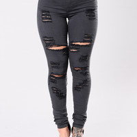 The Cher Jeans - Charcoal