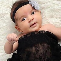 Black Lace Baby Wrap 3ft x 5ft - CPW309