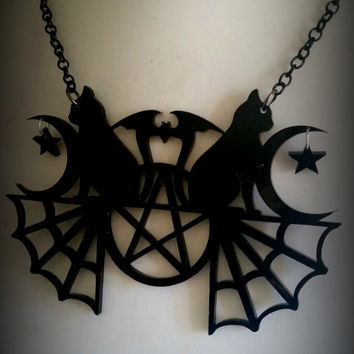 Black Magic Necklace or Earrings