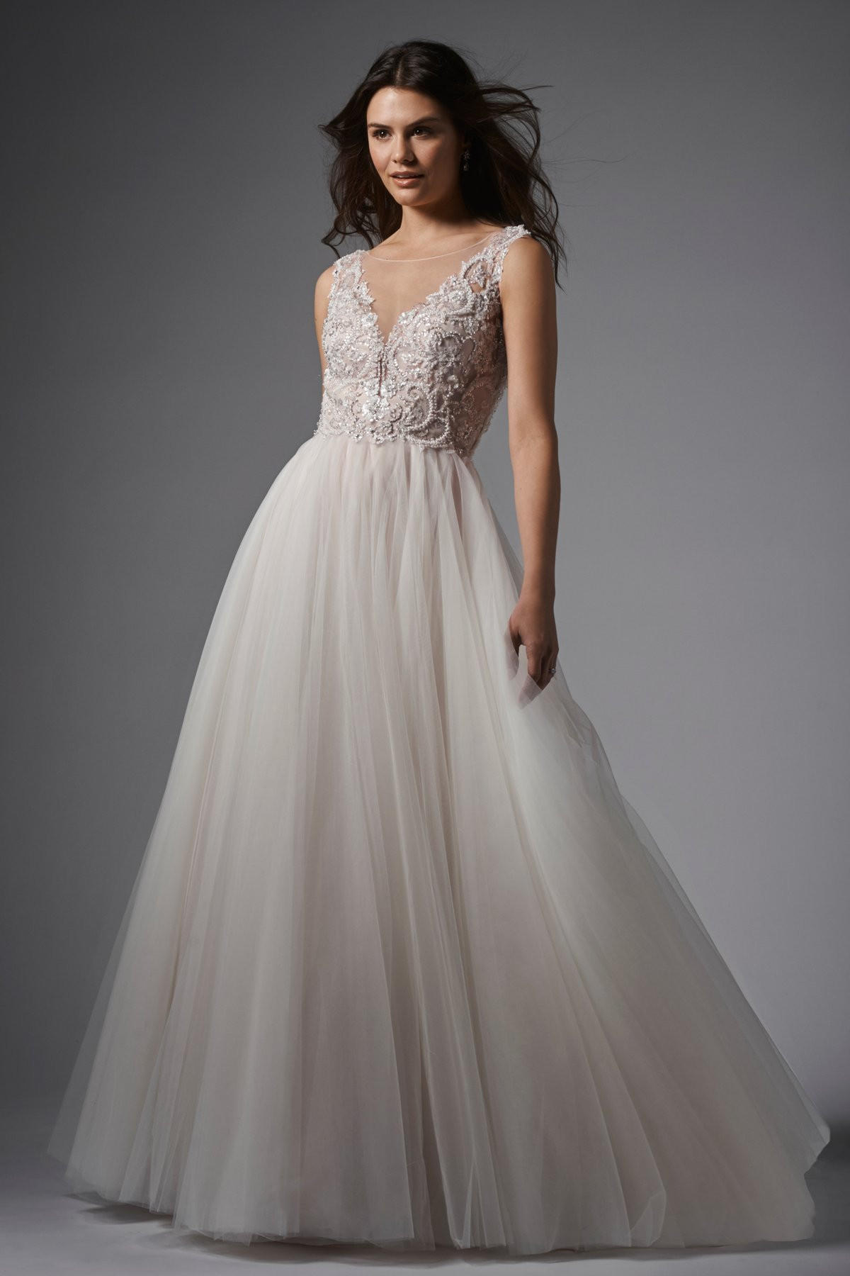 Wtoo By Watters Naomi 15761 Sheer Back From Off White By Bridal
