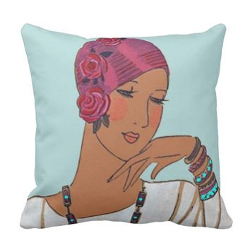 Art Deco Women Pillow