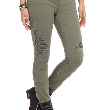 ASHLEY MASON Moto Skinny Jeans