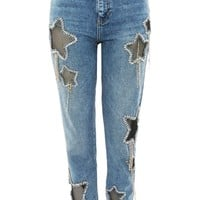 MOTO Bleach Diamante Star Jeans - New In Fashion - New In