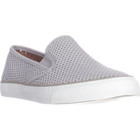Sperry Top-Sider Seaside Perforated Slip On Fashion Sneakers - Perfs Grey