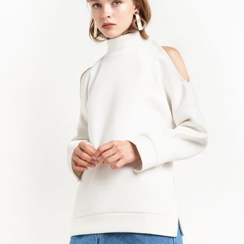 Cold Shoulder Sweatshirt by JOA