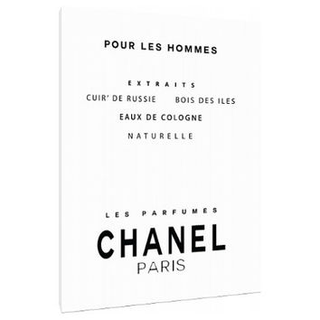Vintage men's Chanel perfume ad Canvas - Typography - Perfume Bottle - Wall Art - Print Poster - Modern Decor - Motivation - Chanel logo