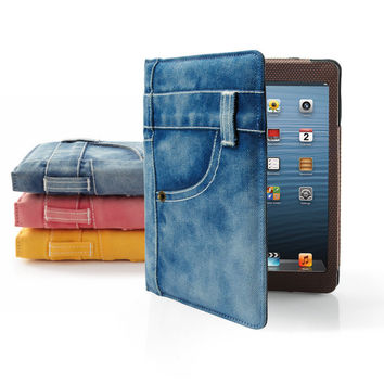 Jean Jacket Case for iPad mini Tablet at Brookstone—Buy Now!