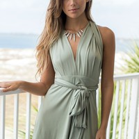 City Girl Olive Tie Dress