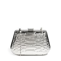 River Island Metal Snake Embossed Box Clutch Bag