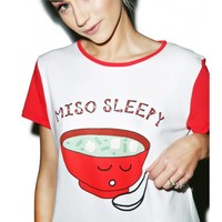 Mink Pink Miso Sleepy Crop Tee | Dolls Kill