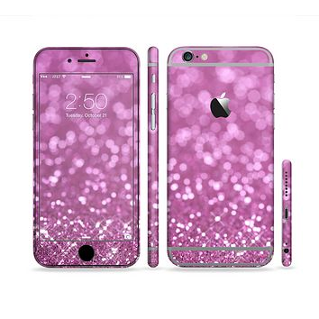 The Pink Unfocused Glimmer Sectioned Skin Series for the Apple iPhone 6 Plus