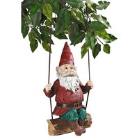 SheilaShrubs.com: Sammy the Swinging Gnome Statue EU5795 by Design Toscano: Gnomes
