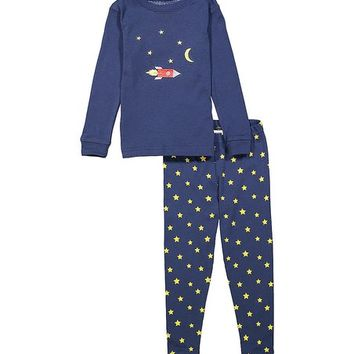 Blue Moon & Rocket Pajama Set - Infant & Toddler