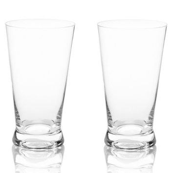 Crystal Pint Glass Set (Set of 2)