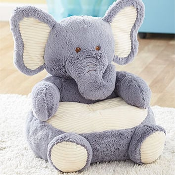 Kids' Plush Animal Chairs