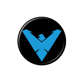 Nightwing Logo Button