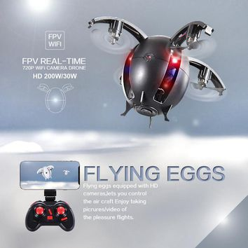 NEW WIFI real time FPV Folding Transformable Egg Drone Gift K130 upgrade RC Drone with 720P HD Camera 2.4G 4CH RC Quadcopter