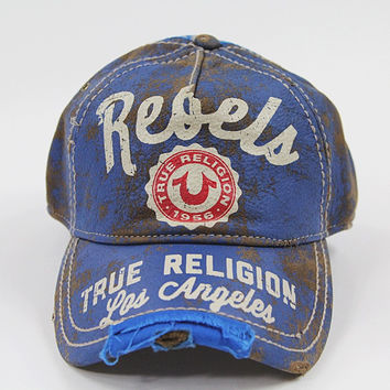 True Religion LEATHER BASEBALL CAP