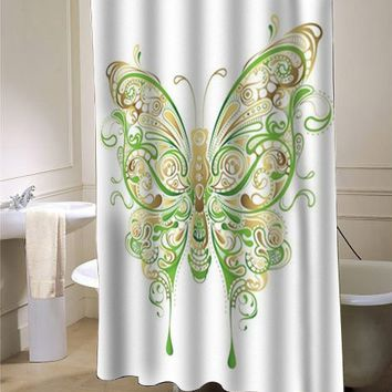 Abstract Floral Butterfly showercurtain - myshowercurtains