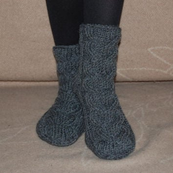 Hand knit socks, Hand knit wool socks, Handmade Knitted Wool Socks, knitted wool slippers, Wool socks for women
