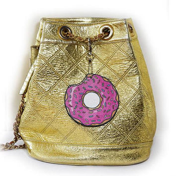 Donut - key ring, bag accessories , pendant, hangers