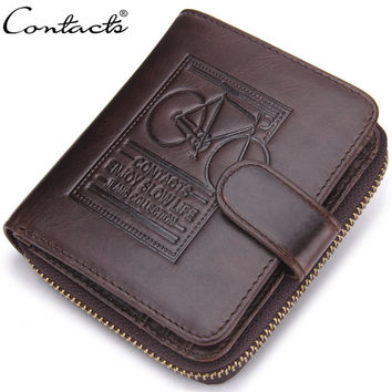 Men Leather Stylish Zippers Wallet [9026424003]
