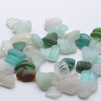 Small Sea Glass Bottle Lips Jar Rims Bottle Necks 39 pieces