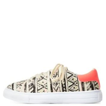 Qupid Tribal Print Low-Top Sneakers by Charlotte Russe