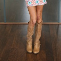 City Cowgirl Boots Tan