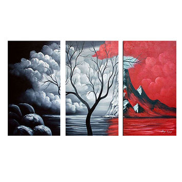 Tree of Life Landscape Canvas Wall Art Oil Painting