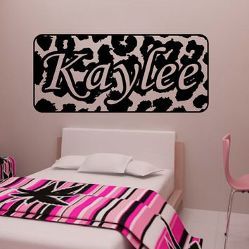 Personalized Zebra Stripe Name Vinyl Wall Decal Sticker Animal Print