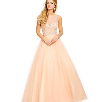 Savannah Nights Beaded Illusion Ball Gown | Dillard's Mobile