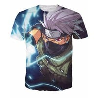 Naruto Hatake 3D Short Sleeve Anime T-Shirt