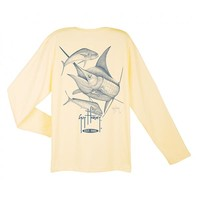 Guy Harvey Men's Speed Dri-Release Long Sleeve T-shirt