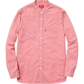 Supreme: Denim Band Collar Shirt - Pink