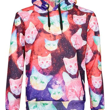 Hype Cosmo Cat Hoody* - Mens Hoodies & Sweatshirts - Clothing - TOPMAN USA