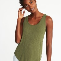 Relaxed Slub-Knit Luxe Tank for Women|old-navy
