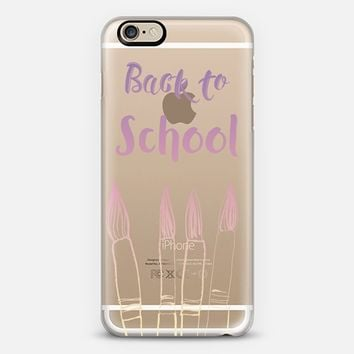 BACK TO SCHOOL IN PASTELS - CRYSTAL CLEAR PHONE CASE iPhone 6 case by Nika Martinez | Casetify