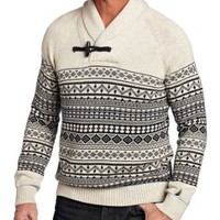 BNM Corporation - Amazon.com: Nautica Men's Shawl Collar Fairisle, Beige, Large: Clothing