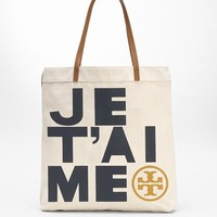 je t'aime canvas tote | Tory Burch